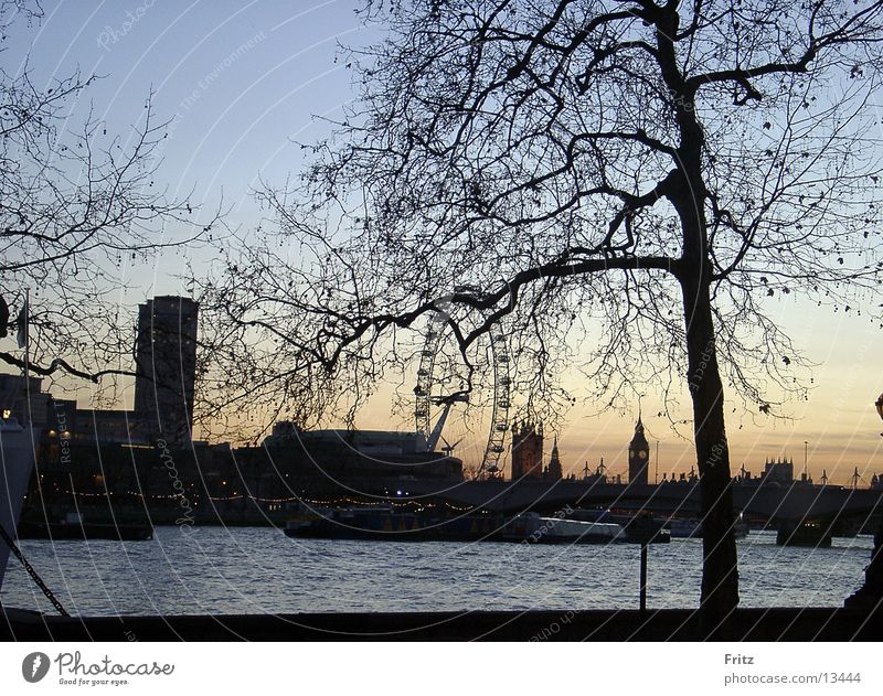 Abenddämmerung in London Europa Big Ben