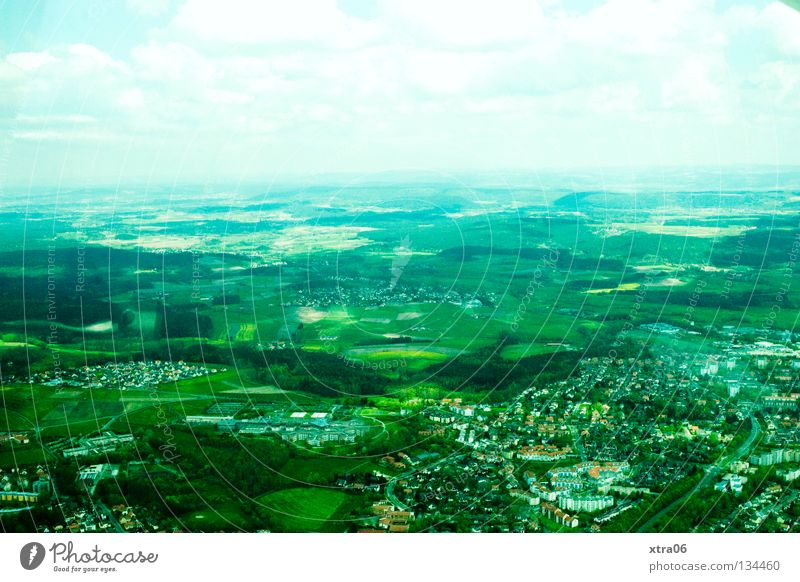 Luftaufnahme 2 - Aussicht Himmel Stadt Haus Freiheit Landschaft Deutschland Dorf