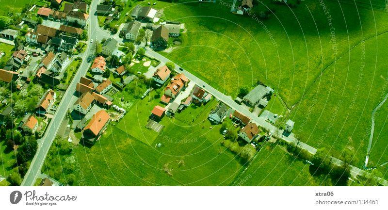 Luftaufnahme 3 - Idylle Himmel Haus Luftaufnahme Landschaft Freiheit Deutschland Dorf