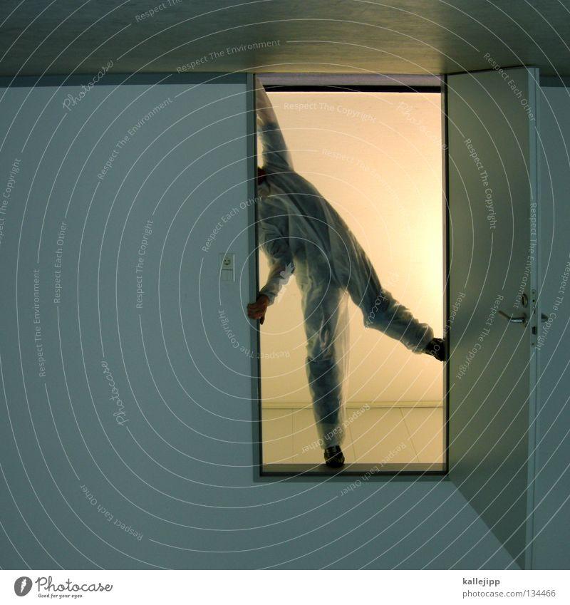 nebenwirkungen Mann Wissenschaftler Wissenschaften Strahlenschutz verstrahlt Ausfall Elektrizität Techniker Arbeit & Erwerbstätigkeit Unfall Raum Eingang