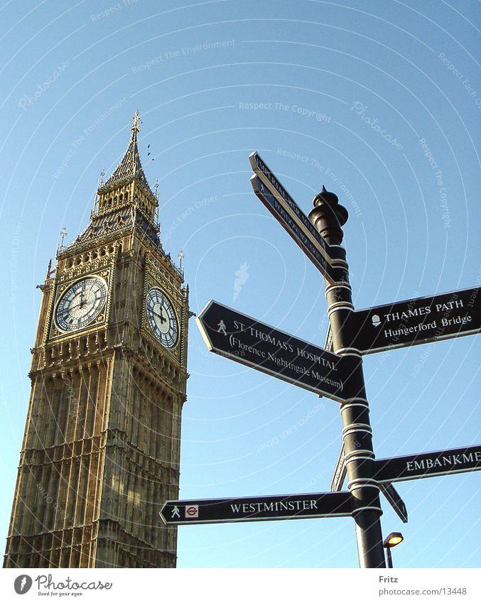 Big Bäng Europa London Wahrzeichen England Wegweiser Sightseeing Städtereise Big Ben