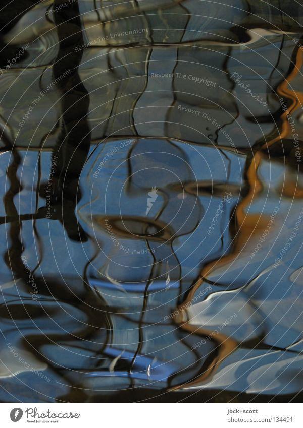 Paar beim Liebesspiel Wellen Linie oben Inspiration komplex Kreativität Surrealismus Brunnen Metamorphose Dimension wellig Wasseroberfläche Oberflächenspannung