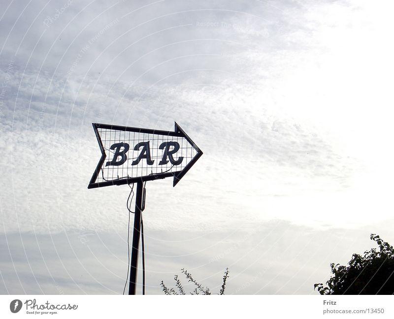 Schöne Aussicht Himmel Schilder & Markierungen Hinweisschild Bar Alkohol