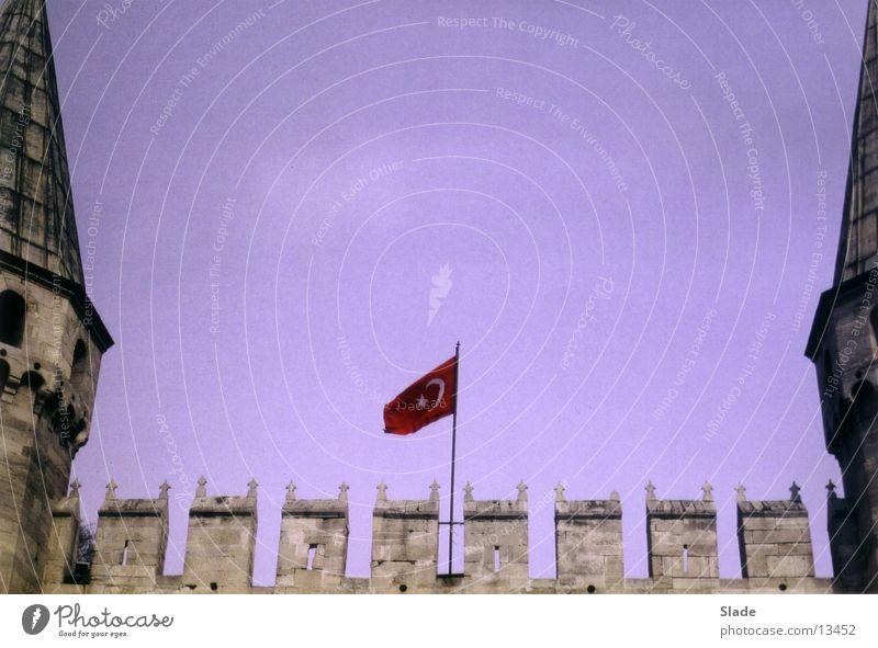 Türkische Flagge Istanbul Türkei Fahne Zinnen Freizeit & Hobby National Burg oder Schloss