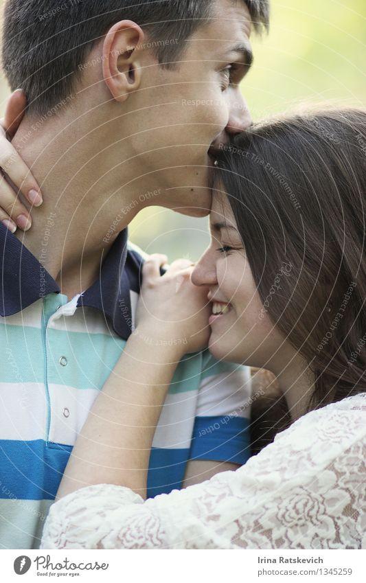 Lachen Mensch Familie & Verwandtschaft Paar Partner Leben 2 18-30 Jahre Jugendliche Erwachsene genießen Küssen Lächeln lachen Gefühle Stimmung Fröhlichkeit