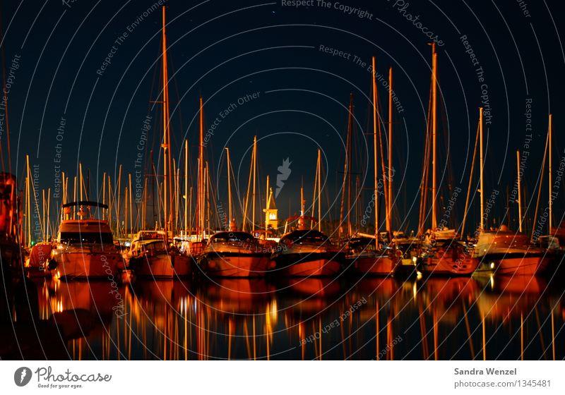 Novigrad, Istrien Reichtum Nachtleben Küste Meer Schifffahrt Binnenschifffahrt Kreuzfahrt Bootsfahrt Fischerboot Sportboot Jacht Motorboot Segelboot Segelschiff