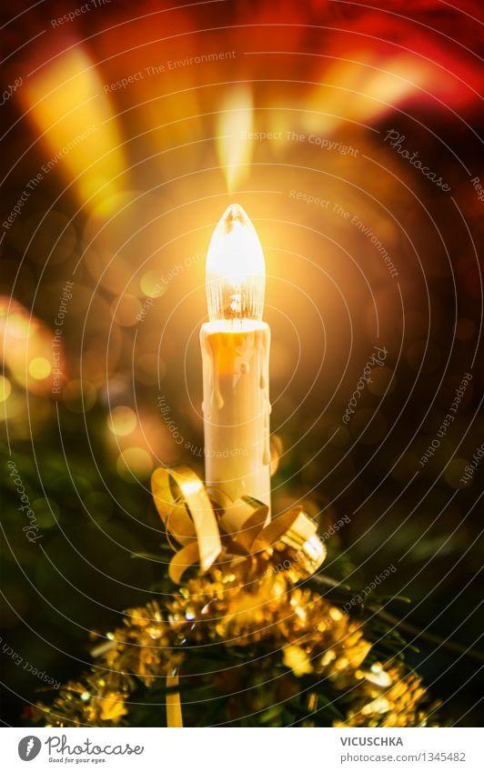 Weihnachtsbaum Kerze Weihnachten & Advent Winter Innenarchitektur Stil Feste & Feiern Party Wohnung Design Dekoration & Verzierung Veranstaltung Tradition