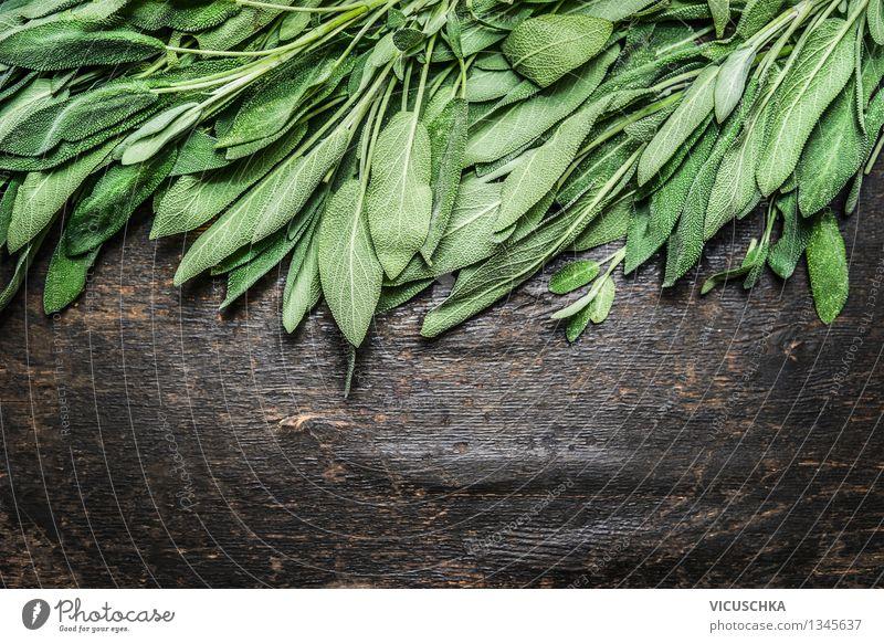Frische Salbeiblätter Lebensmittel Kräuter & Gewürze Gesundheit Alternativmedizin Gesunde Ernährung Kur Sommer Garten Tisch Natur Design Stil Hintergrundbild