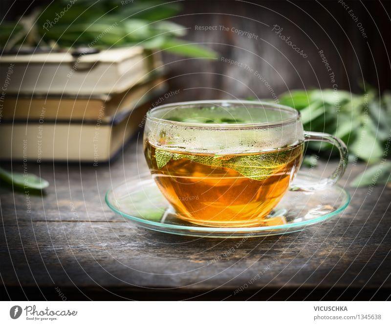 Kräutertee trinken Lebensmittel Kräuter & Gewürze Heißgetränk Tee Teller Tasse Lifestyle Stil Design Alternativmedizin Gesunde Ernährung Tisch Papier Zettel
