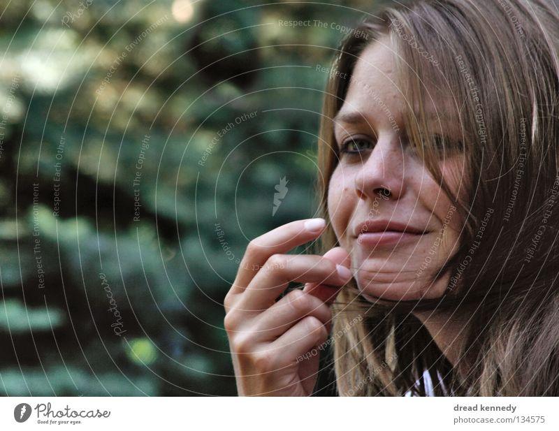 Sandra Mensch Frau Jugendliche schön Freude ruhig Erwachsene feminin Junge Frau Stil Zufriedenheit blond Kraft elegant Pause Kommunizieren