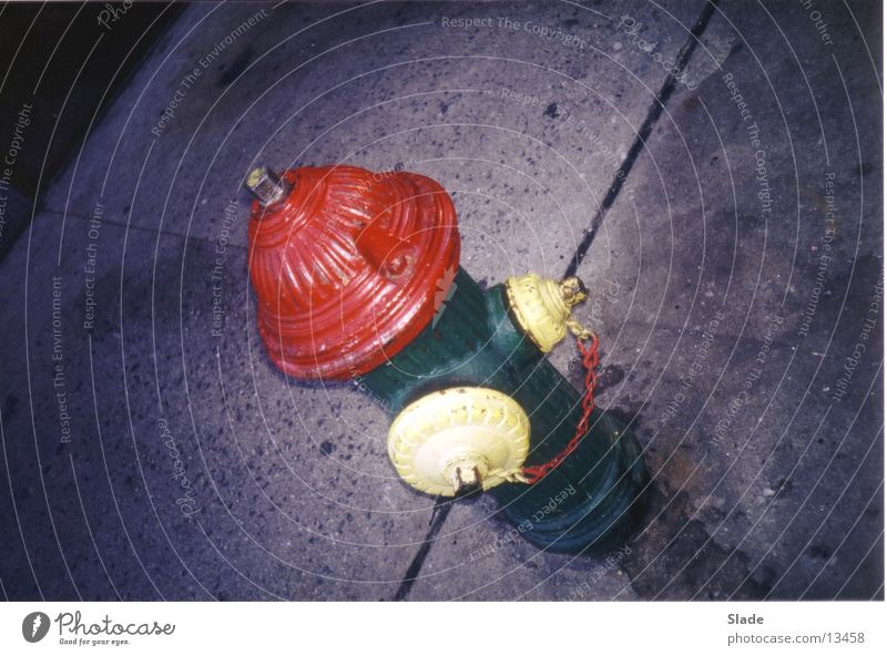fireplug Hydrant New York City Amerika mehrfarbig Dinge Feuerwehr verrückt