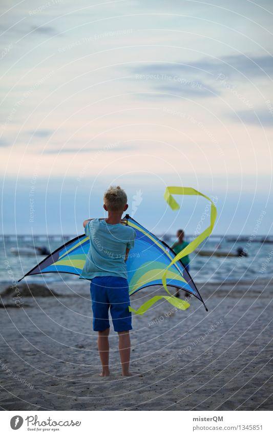 On the Beach III Umwelt ästhetisch Abenteuer Kindheit Kindheitserinnerung kinderleicht Kinderspiel Lenkdrachen steigen steigend Wind Drachenfliegen wehen