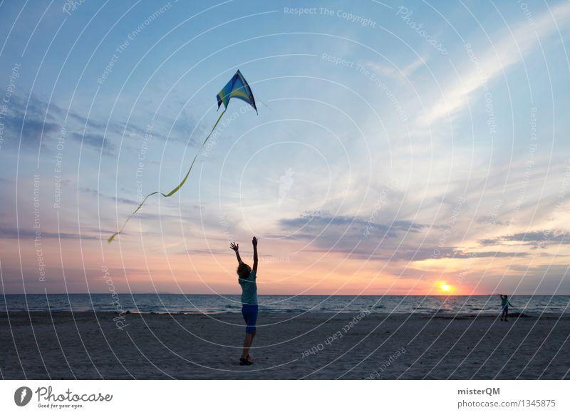 On the Beach II Kunst ästhetisch Wind aufsteigen Windböe Freizeit & Hobby Spielen spielend Lenkdrachen Drachenfliegen Ferien & Urlaub & Reisen Freiheit