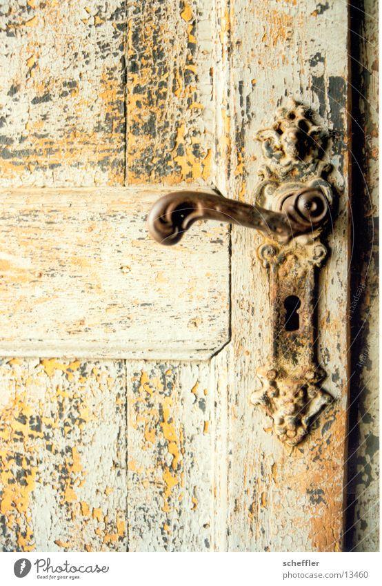 Türklinke alt Farbe Holz Tür Dinge Griff