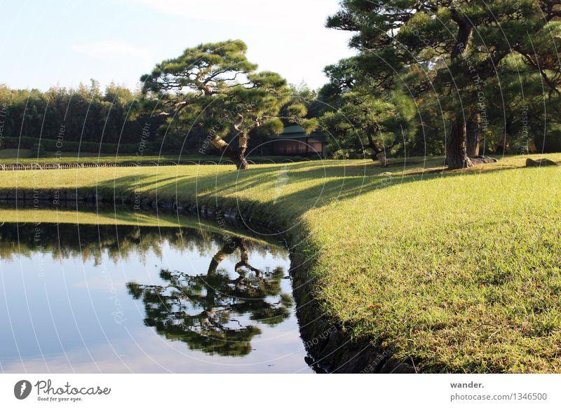 Korakuen Garden, Okayama – japanischer Garten im Spätsommer Himmel Natur Ferien & Urlaub & Reisen Stadt blau grün Sommer Wasser Baum Erholung Landschaft Wolken