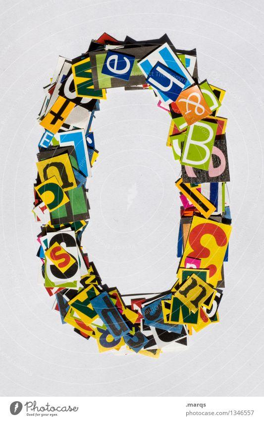 0 Stil Design Ziffern & Zahlen mehrfarbig Schnipsel Geburtstag Jubiläum Farbfoto Studioaufnahme Freisteller Hintergrund neutral