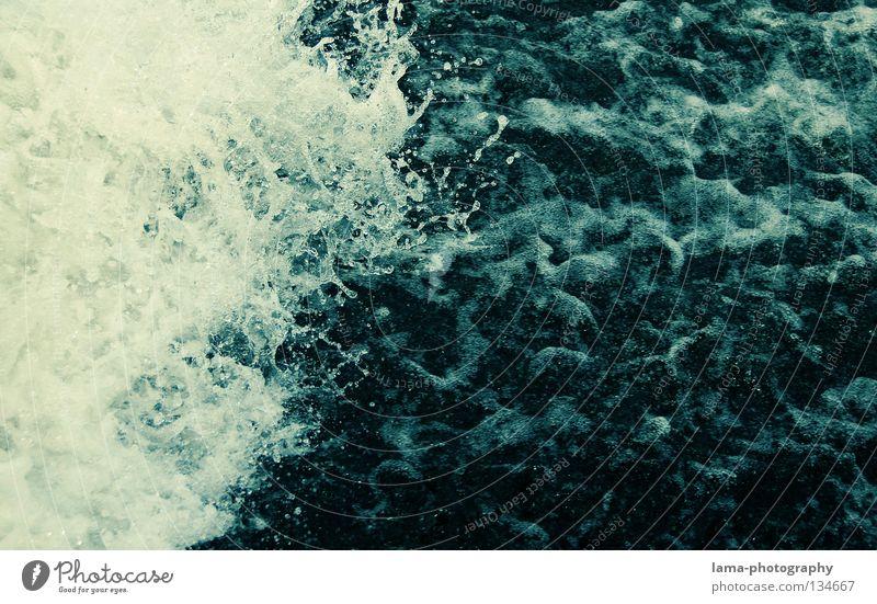 aufbrausend schäumen spritzen Wellen unruhig Strömung Wildbach gefährlich reißend Muster Flüssigkeit abstrakt Wasser Hintergrundbild Wasserfarbe Aquarell