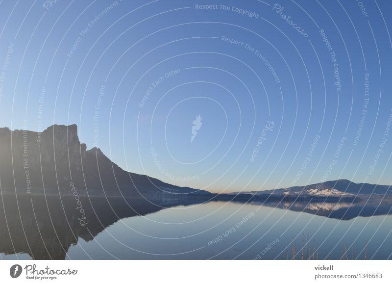 Daheim ums Eck Himmel Wasser Erholung Landschaft Winter Berge u. Gebirge See Schönes Wetter Spaziergang Wolkenloser Himmel Angeln