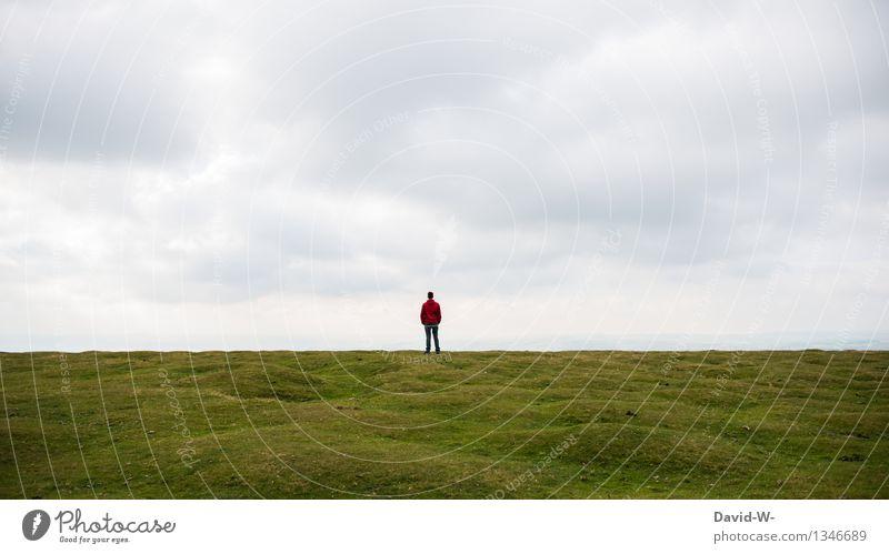 Der ruhigste Ort der Welt Mensch Natur Ferien & Urlaub & Reisen Mann Erholung Einsamkeit Landschaft Ferne Erwachsene Leben Herbst Wiese Gesundheit Freiheit