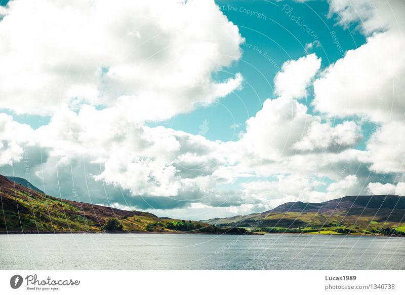 Wolkenspiel Himmel Natur Ferien & Urlaub & Reisen blau grün Wasser weiß Meer Landschaft Strand Berge u. Gebirge Umwelt natürlich Küste See
