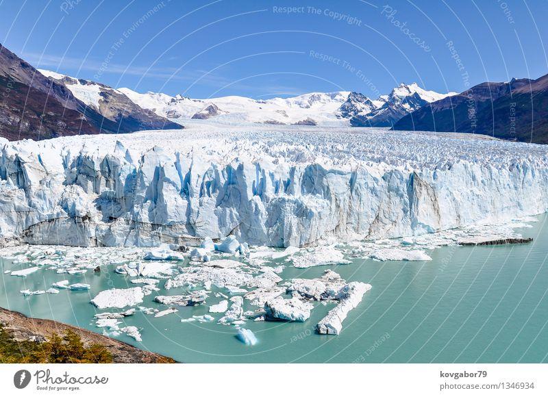 Frontansicht des Perito Moreno Glacier, Argentinien Ferien & Urlaub & Reisen Tourismus Natur Landschaft Himmel Wolken Park Gletscher weiß Patagonien RTW