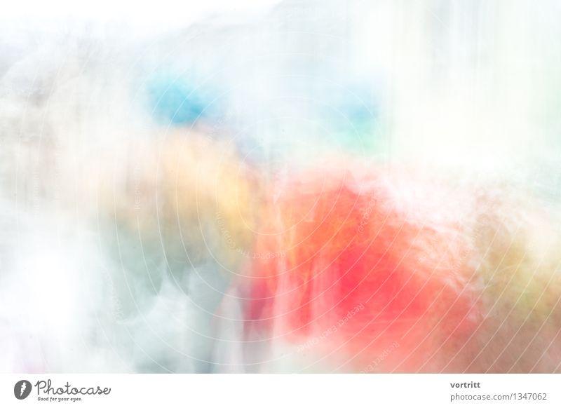 Im Wunderland Kunst Maler Gemälde ästhetisch außergewöhnlich blau gelb rot Lebensfreude Kraft Überbelichtung mehrfarbig Farbfoto Außenaufnahme Experiment