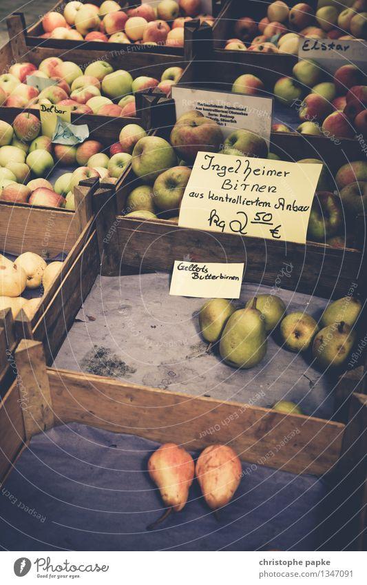 äpfel mit birnen vergleich Lebensmittel Frucht Apfel Ernährung Bioprodukte Vegetarische Ernährung Gesunde Ernährung Handel frisch Gesundheit Markt Marktstand