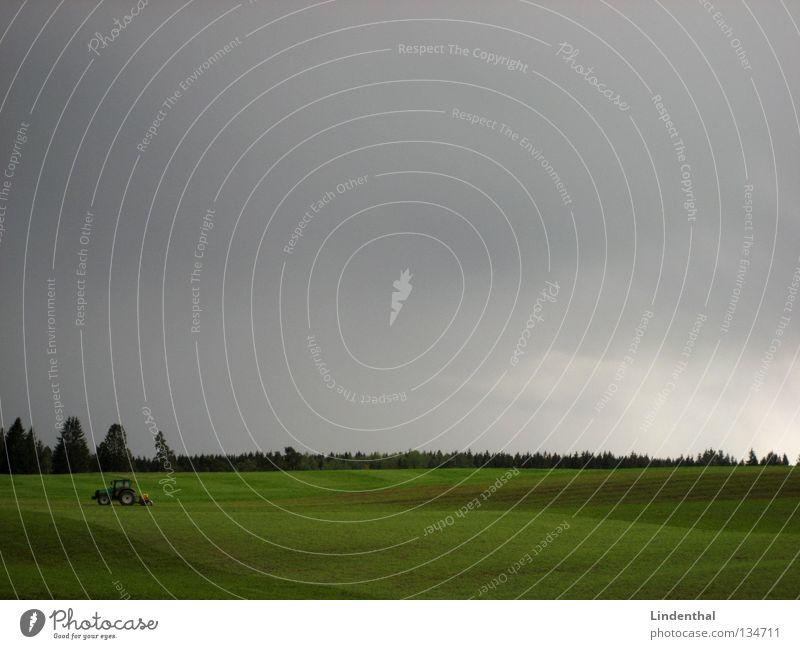 IMG_6300.JPG Traktor Landwirtschaft Wiese Feld grau Walze Wald faren Amerika Weide Himmel Arbeit & Erwerbstätigkeit