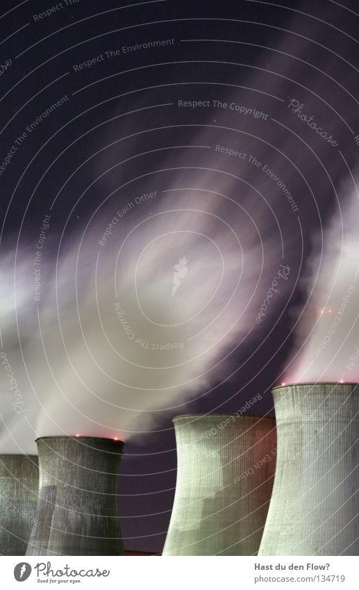 Turm Himmel weiß blau Wolken Arbeit & Erwerbstätigkeit Freiheit Regen Kraft Wassertropfen frei Horizont leer Elektrizität bedrohlich violett Gedanke