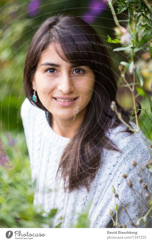 Erwartungsvoll Erholung feminin Junge Frau Jugendliche Kopf Gesicht 1 Mensch 18-30 Jahre Erwachsene Natur Frühling Sommer Herbst Schönes Wetter Pflanze Blume