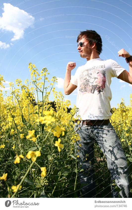 einmal durch die Waschanlage Himmel blau Sommer Blume Freude Wolken Freiheit Glück Frühling stark Mut Garten Beet Blumenbeet Blumenfeld