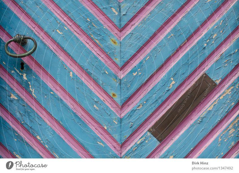 Ærø's Türen Ferien & Urlaub & Reisen blau Haus Ferne Architektur Gebäude Tourismus geschlossen violett Bauwerk Dorf Hütte Sommerurlaub Sehenswürdigkeit Tor