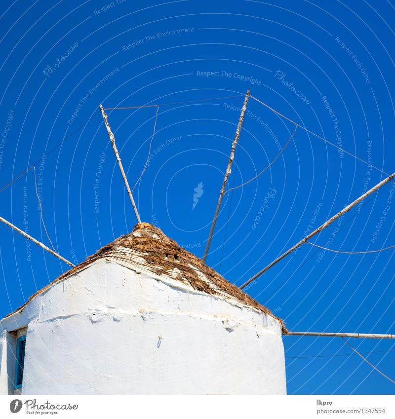 Griechenland Europa und der Himmel Ferien & Urlaub & Reisen alt blau schön Farbe Sommer weiß Haus schwarz Architektur Gebäude Stein braun Linie träumen