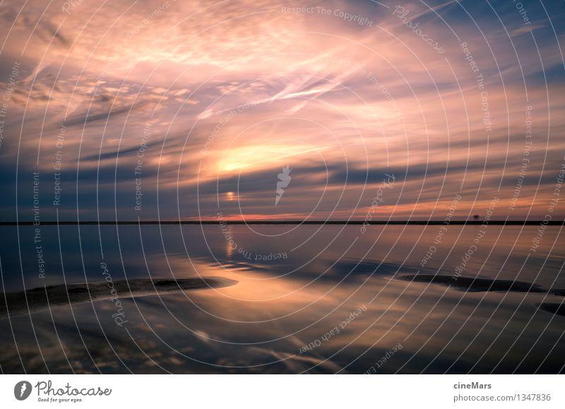 Unendlichkeit des Meeres genießen Himmel Natur Ferien & Urlaub & Reisen blau Sommer Wasser Erholung Landschaft ruhig Wolken Strand Umwelt Wärme außergewöhnlich