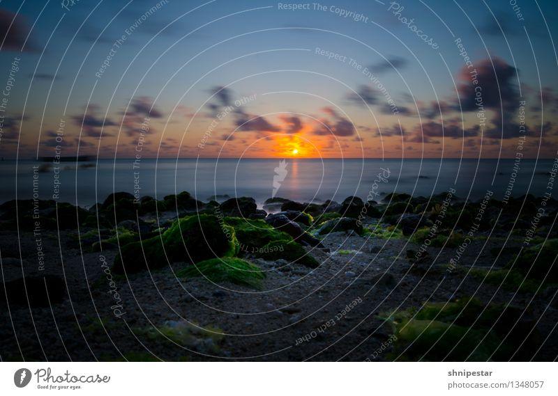 Sunset on Mauritius Himmel Natur schön Wasser Sonne Erholung Meer Wolken Strand Umwelt Küste Schwimmen & Baden Sand Wetter Wellen Insel
