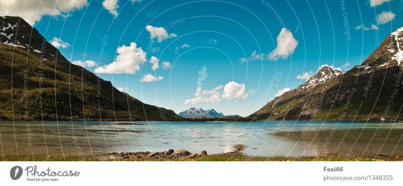 Experiment/ mal ein anderes Format Himmel Ferien & Urlaub & Reisen schön Sommer Wasser Meer Erholung Einsamkeit Wolken ruhig Berge u. Gebirge Umwelt Küste Stein