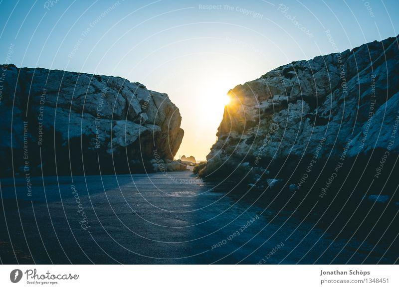 Îles de Marseille III Himmel Natur blau Wasser Sonne Landschaft Meer Stein Felsen wandern Aussicht Insel Abenteuer Frankreich heiß Süden