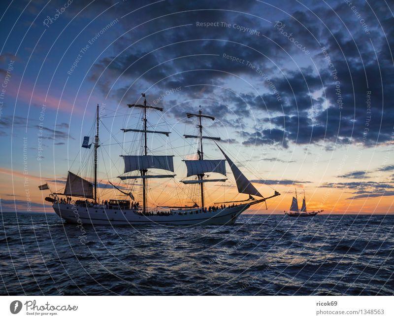 Hanse Sail Ferien & Urlaub & Reisen blau Wasser Meer Wolken Küste Wasserfahrzeug Tourismus Wellen Abenteuer Ostsee Tradition Segeln Mecklenburg-Vorpommern