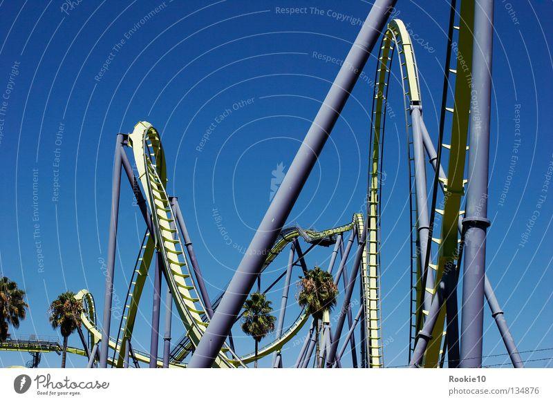 Just do it Himmel blau schön Sommer Freude Ferne Freiheit Glück lustig Kraft Angst hoch groß frei modern Geschwindigkeit