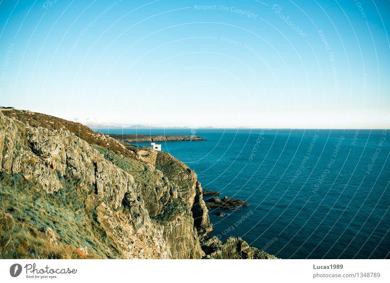 griechisches Wales Natur Ferien & Urlaub & Reisen schön Sommer Sonne Erholung Meer Landschaft Haus Umwelt Küste Felsen Tourismus Wellen wandern Insel