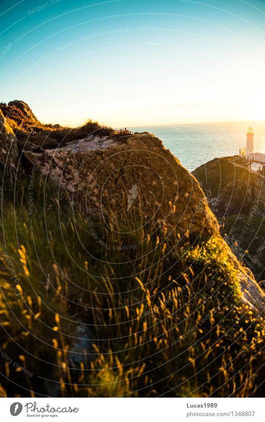 Sonnenaufgang Himmel Natur Ferien & Urlaub & Reisen Pflanze Erholung Meer Landschaft Haus Ferne Umwelt Gras natürlich Küste Freiheit Felsen
