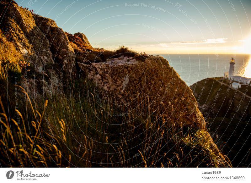 Wildnis Himmel Natur Ferien & Urlaub & Reisen schön Sommer Meer Landschaft Ferne Berge u. Gebirge Umwelt Wiese Küste Freiheit Felsen Wellen wandern