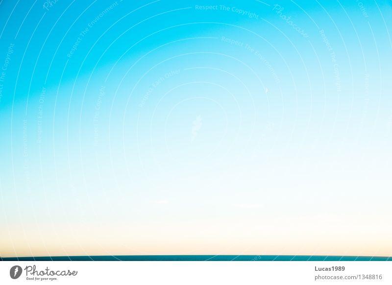 Ein Stück Horizont Himmel blau schön Sommer Wasser weiß Erholung Meer Ferne See Mode hell Wetter Luft frei