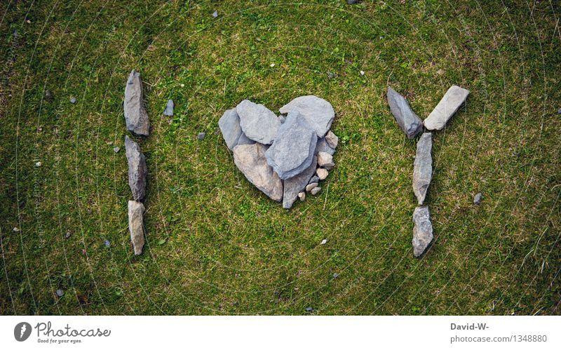 I Love You Natur Sommer Umwelt Leben Liebe Herbst Gefühle Wiese Tod Kunst Stein Schriftzeichen Herz Romantik Zeichen Ewigkeit