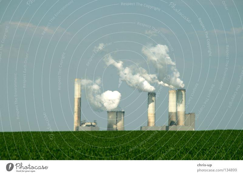 Frische Luft Teil 2 schwarz Wärme braun Umwelt hoch Industrie Energiewirtschaft Elektrizität Niveau Gastronomie Rauch Stahl Abgas Erdöl Schornstein Emission