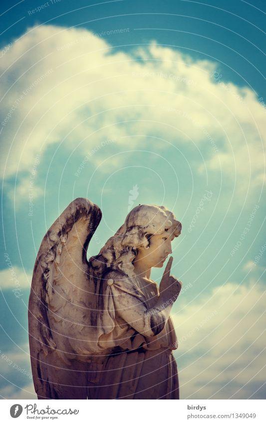 Pssst..... feminin Kunst Skulptur Himmel Wolken Engel ästhetisch retro Macht Volksglaube Partnerschaft Erwartung Glaube Religion & Glaube Kommunizieren Moral