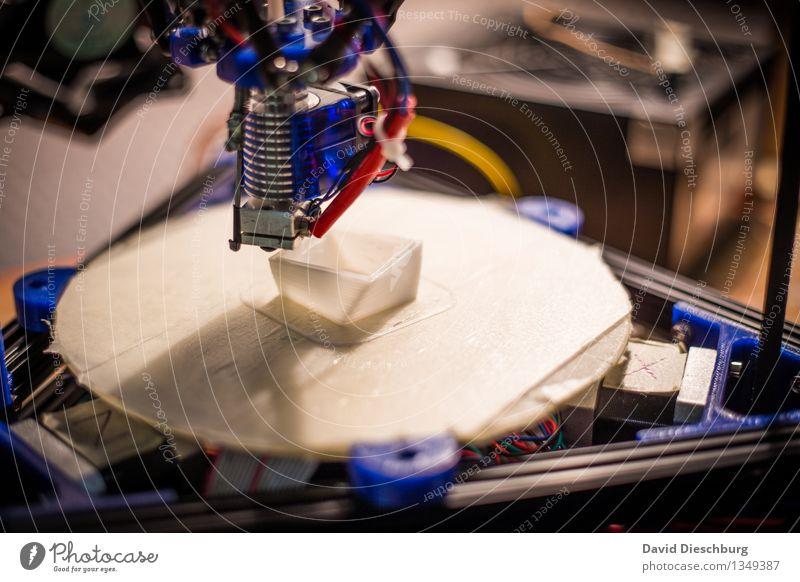 3D-Drucker II Technik & Technologie Computer Zukunft Idee Industrie planen Kabel Kunststoff Dienstleistungsgewerbe Teamwork Maschine Symmetrie Problemlösung innovativ Fortschritt Qualität