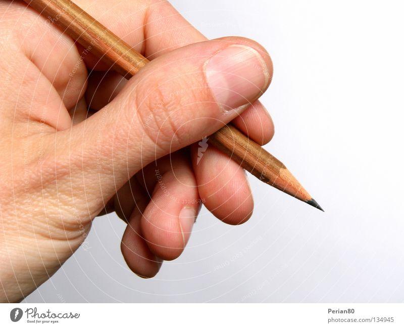 GRAPH IT!! Bleistift Hand Finger Fingernagel Schreibstift Graphit Makroaufnahme Nahaufnahme hell zeichnen Mine