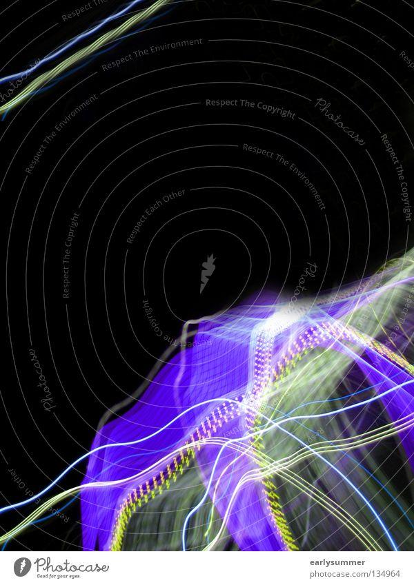 returned light Lampe Musik Club Disco Wissenschaften Medien Blitze Bewegung dunkel hell Geschwindigkeit blau violett rosa schwarz Farbe blitzen Laser Lasershow