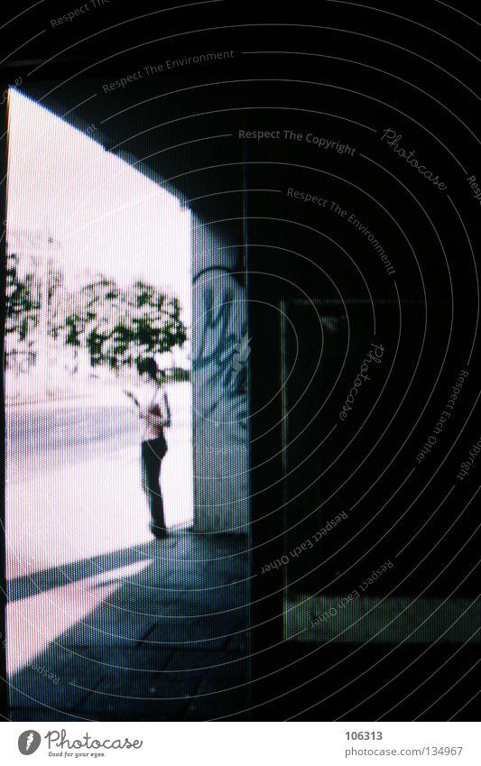 [PRGB.02] M. Frau Himmel Natur Stadt Sonne Sommer Einsamkeit dunkel Graffiti Wege & Pfade Gebäude See hell gehen offen warten